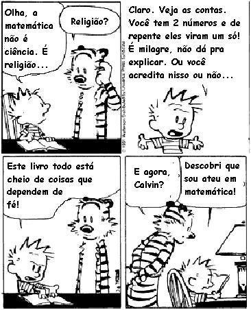 Calvin e Haroldo - ateismo matematico