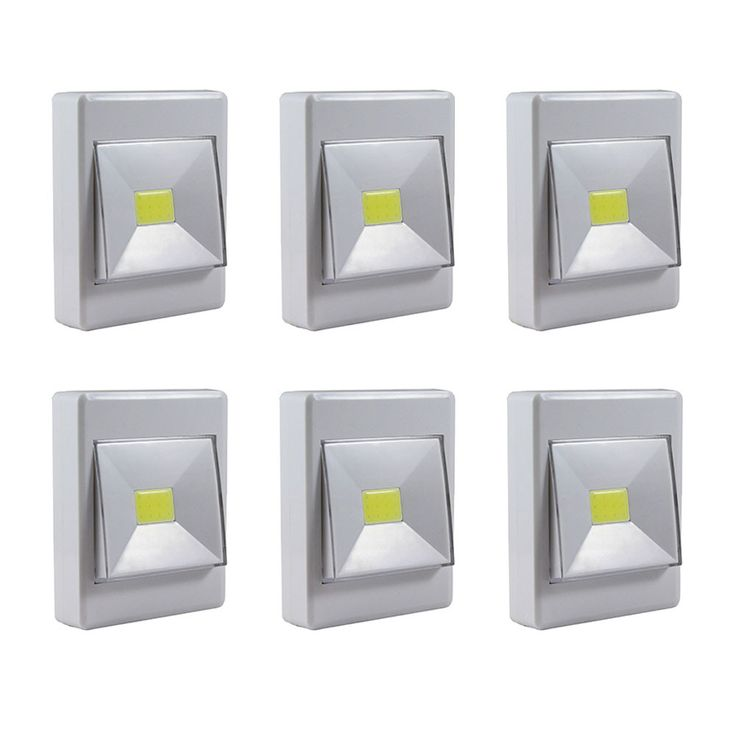 Experience the perfect combination of elegance and practicality with the new Promier Pivoting Cordless Light Switch. Featuring an extremely bright 200 lumen COB LED, the cordless pivoting switch light can be mounted with its built in magnets, hook and loop fasteners or keyhole mount. These work great under cabinets, in closets, under the sink and virtually any space where you need bright temporary battery powered light. Large Pivot On/Off Illuminated Switch Dual Magnets to Mount to Metal…