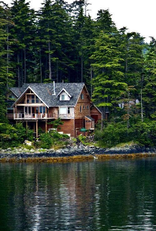 serene lake house   Outdoor Sanctuaries, Treehouses, and ...