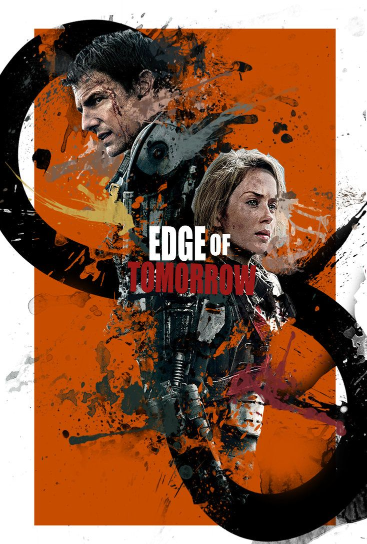 """Edge of Tomorrow - Doug Liman 2014 - DVD08109 -- """"A military officer is brought into an alien war against an extraterrestrial enemy who can reset the day and know the future. When this officer is enabled with the same power, he teams up with a Special Forces warrior to try and end the war."""""""