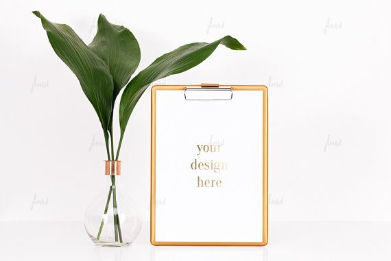 Styled Stock Photography  Gold clipboard  by JustLikeMyDesktop
