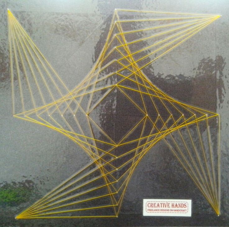 16 best String   Thread Arts images on Pinterest Carton box - triangular graph paper