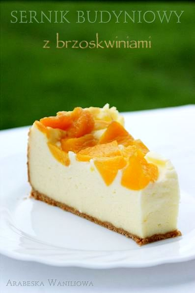 Cheesecake pudding with peaches - recipe