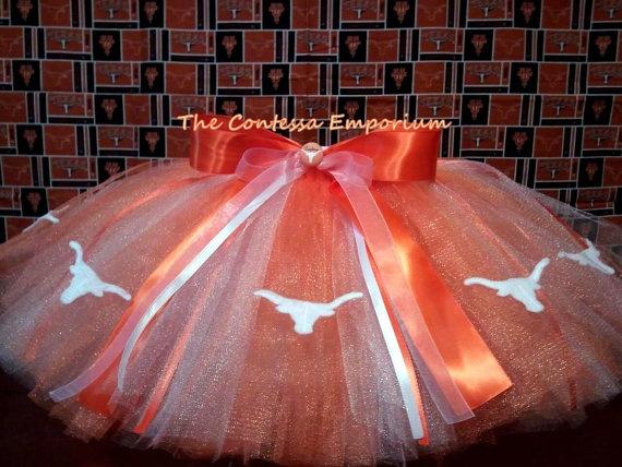 Texas Longhorns themed Tutu by TheContessaEmporium
