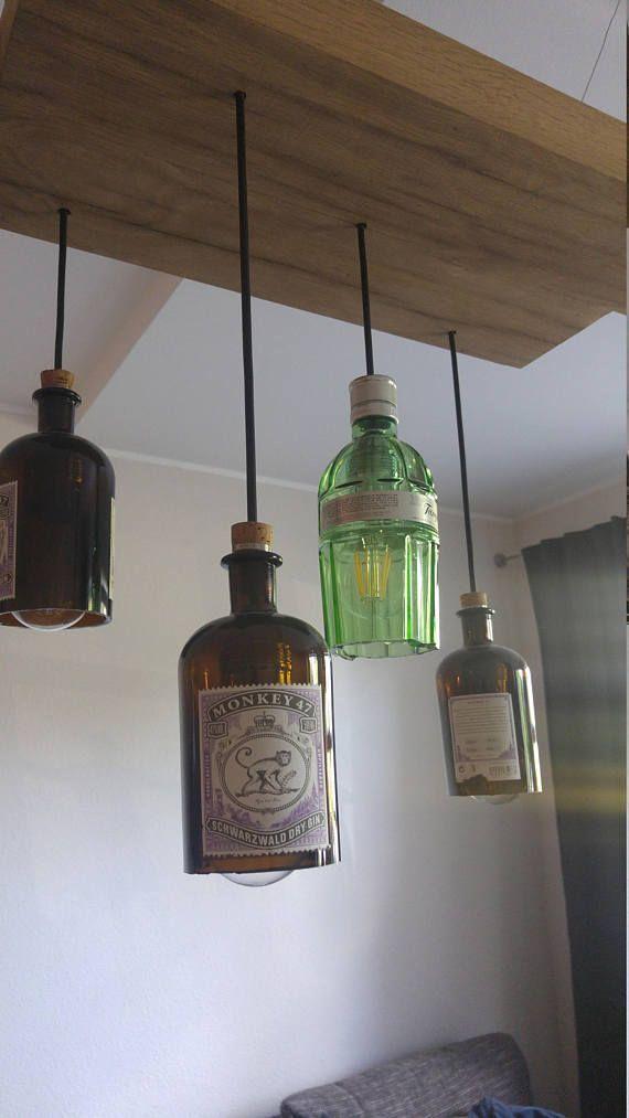 Deckenlampe #aus #recycelten #Flaschen, #aus #Deckenlampe