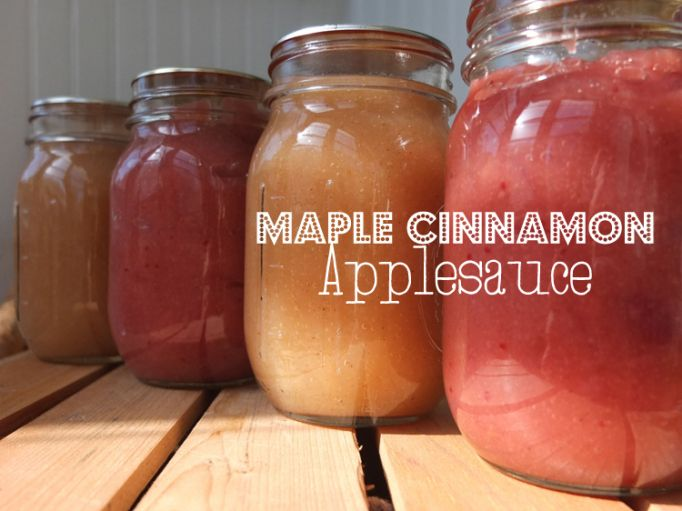 Maple Cinnamon Applesauce Recipe - Putting Up With Erin