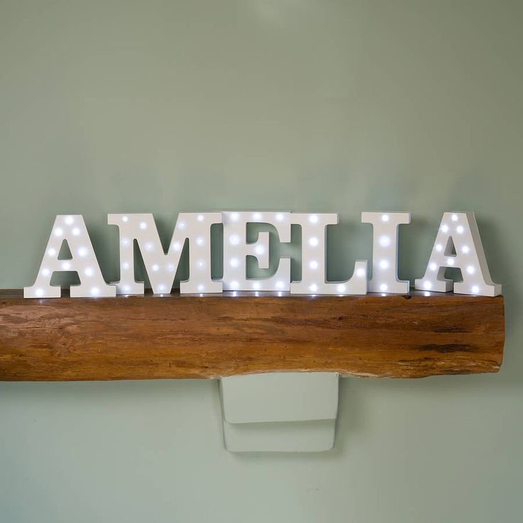 Alphabet Letter Light