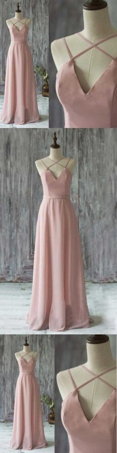 Pink Prom Dress,Long Prom Dresses,Sexy Backless Prom Dresses,Chiffon Evening Dress Casual Women Dress Party Gown #promdresses #longpromdresses #2018promdresses #fashionpromdresses #charmingpromdresses #2018newstyles #fashions #styles #teens #teensprom