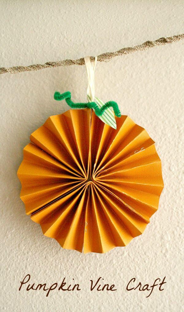Pumpkin Vine Craft for Fall