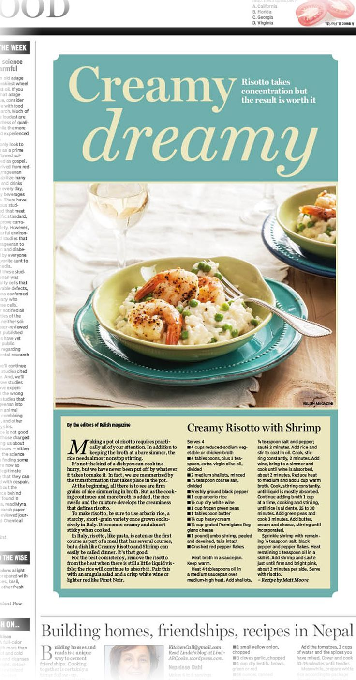 163 best food articles recipes images on pinterest food creamy dreamy risotto recipe visit httpbit forumfinder Gallery