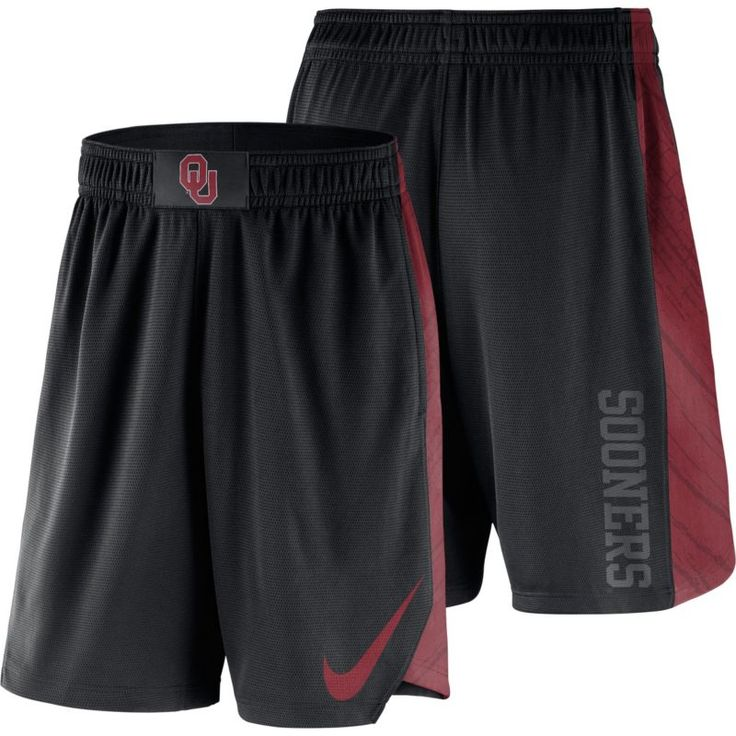 Nike Men's Oklahoma Sooners PHK Elite Basketball Black Shorts, Size: Medium