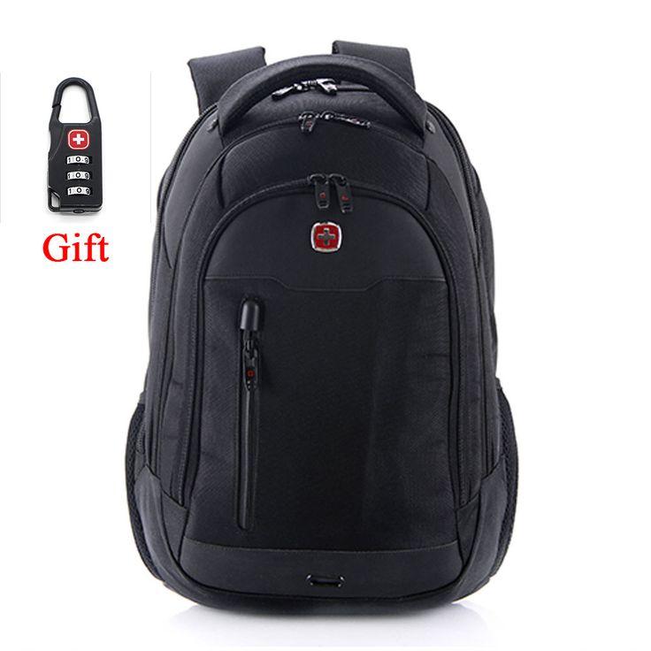 10%OFF!!! Swisswin Men Backpack Mochilas Swissgear Men's Backpacks 15.6Inch Black Laptop Backpacks Teenage Boy Mochilas Hombres