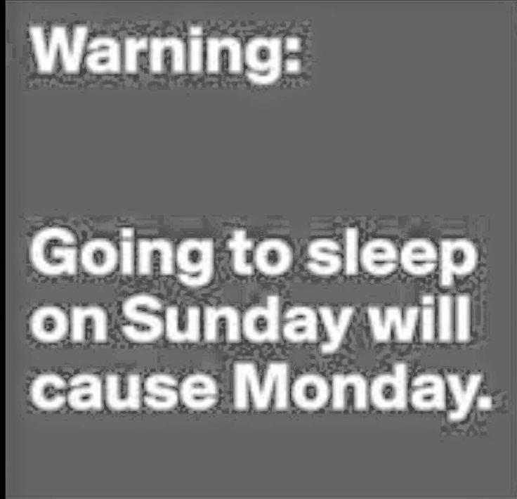 Sunday meme Monday meme