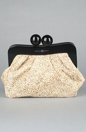 The Amy Makeup Pouch in Leopard Hair by Mata Hari