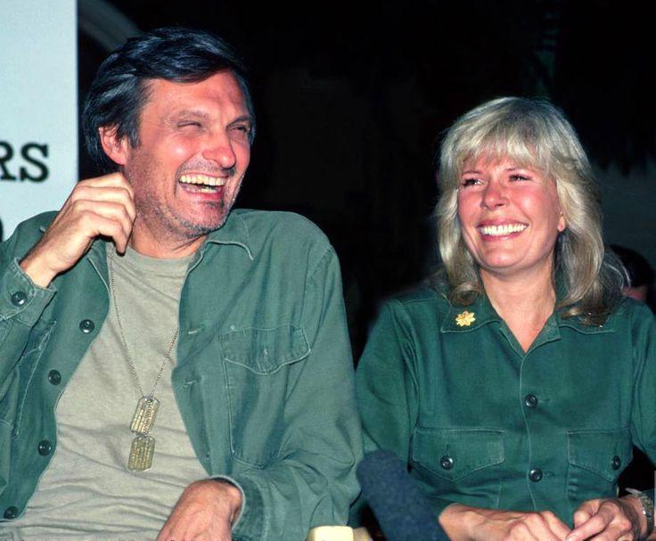 Alan Alda & Loretta Swit backstage laughter