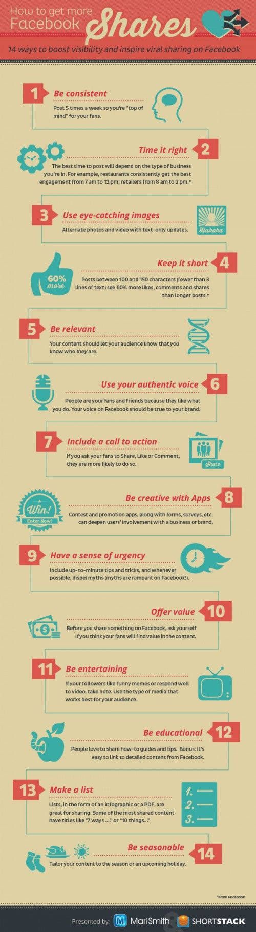 14 Ways To Boost Visibility & Inspire Sharing On #Facebook [infographic] #socialmedia