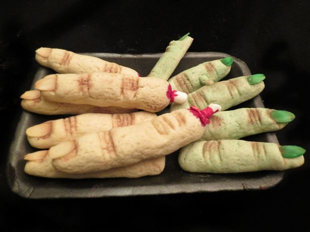 Severed finger cookies