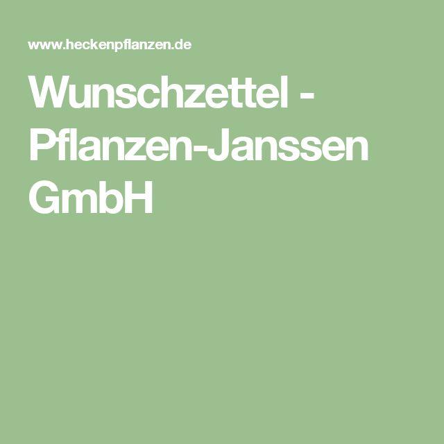 Wunschzettel - Pflanzen-Janssen GmbH