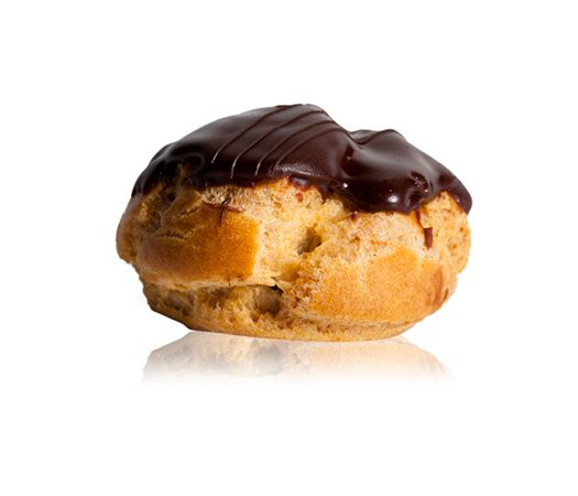 Bigne Cioccolato - A choux pastry filled with chocolate custard topped with a chocolate fondant
