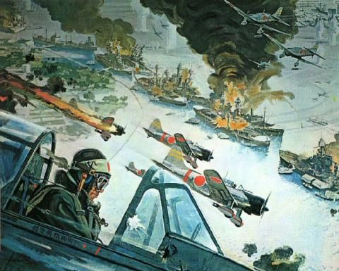 "Artwork from: ""Tora! Tora! Tora!"" by Robert McCall (Pearl Harbor - December 7th) - World War II Social Place"