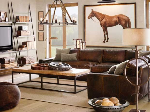 """Ask Jeffrey: Don't steer clear of leather sofas. """"I think the attraction to leather furniture is a guy thing. I have placed numerous leather sofas and chairs in client's homes, but it's always the men of the house driving the steering committee."""""""