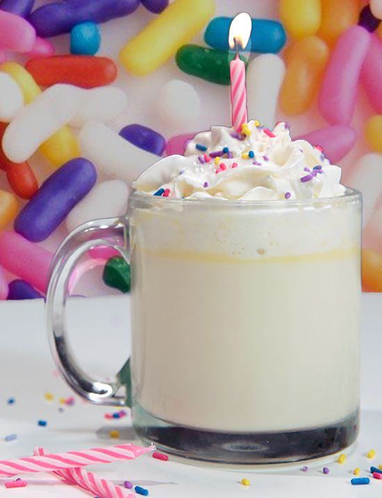 Hot chocolate that tastes like birthday cake?! YES!!!