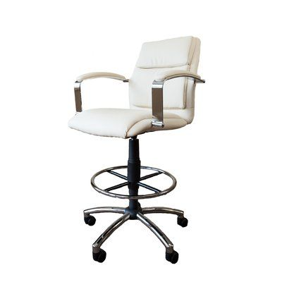 Barcalounger Drafting Chair Upholstery: Ivory