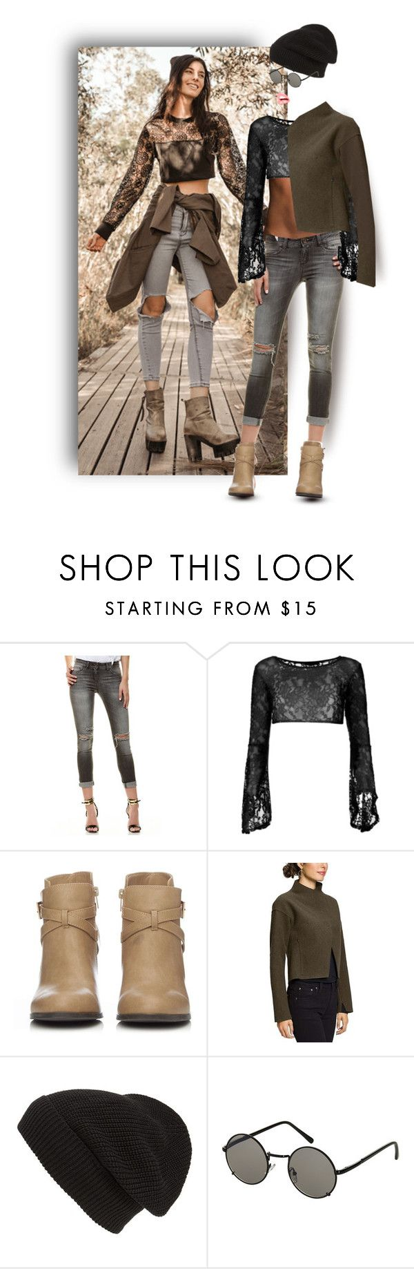 """""""Ripped Jeans."""" by auntiehelen ❤ liked on Polyvore featuring Elisabetta Franchi, Wallis, NAU, Phase 3 and Topshop"""