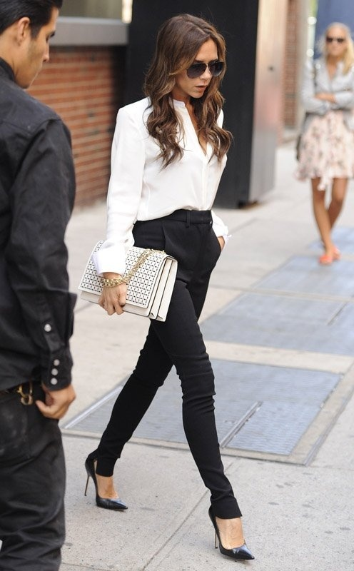 Victoria Beckham. This woman does not have a bad outfit day in my eyes. this one is just as perfect as the rest of them.