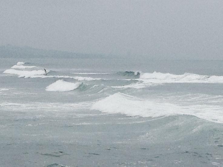 Spot the surfer... Durban beachfront, South Africa
