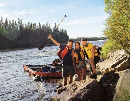 """This province - one-eighth water - is a canoeist's paradise."" #Saskatchewan"