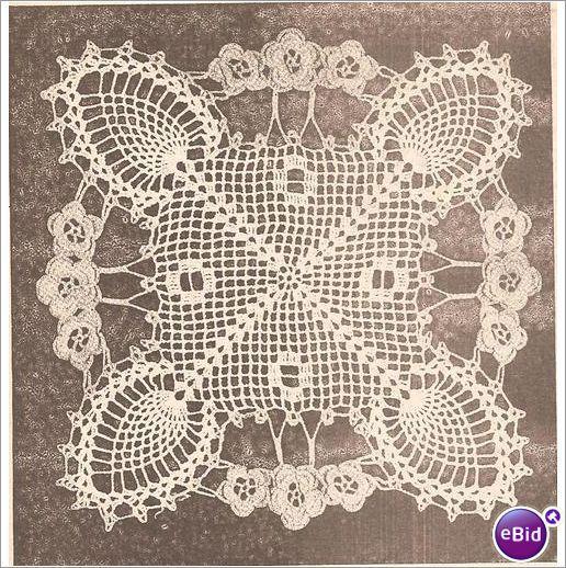crochet Italy doily | Crochet Doily Pattern Original on eBid United States