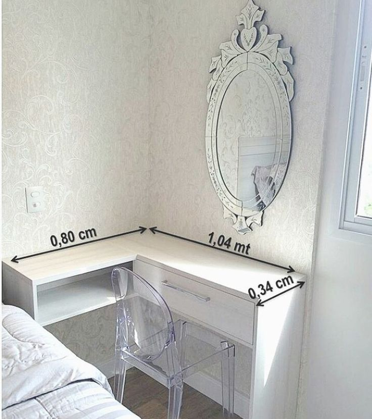 Ide vanity desk utk kamar tidur kecil