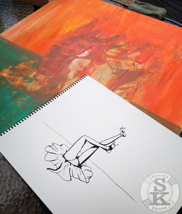 brina schenk - painting in progress - underground