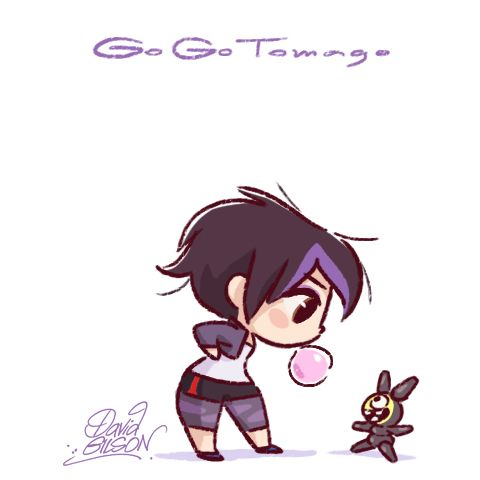 "Special ""Big Hero 6"" Chibies of Disney's Aunt Cass & Mochi , GoGo Tomago and Bot, Honey Lemon & purse (!). https://www.facebook.com/artofdavidgilson/"