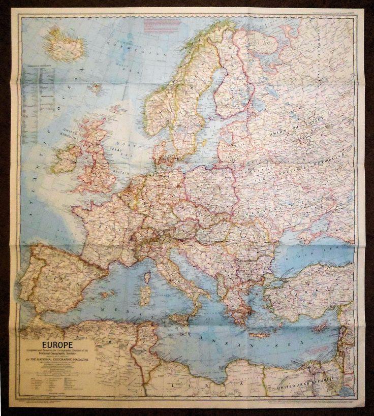 Map Of Oregon Highways%0A Nat  Geographic Europe       Vintage MagazinesPortland OregonSheet MusicMaps EuropeAntique