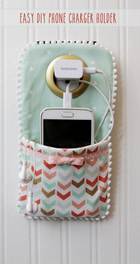 What a BRILLIANT way to charge your phone without it cluttering up the countertop. These charger holders would make great gifts too!