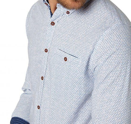gemustertes Button-Down-Hemd für Männer (gemustert, langärmlig mit Button-Down-Kragen und Knopfleiste zu schließen) - TOM TAILOR