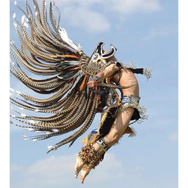 "Awesome 'Aztec"" style bird warrior - I wanna wear a headdress like this at Electric Daisy Carnival Las Vegas 2013!!  EDC"
