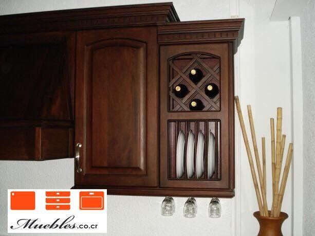 Mueble a reo con campana y vinera personalizada casa for Mueble para microondas