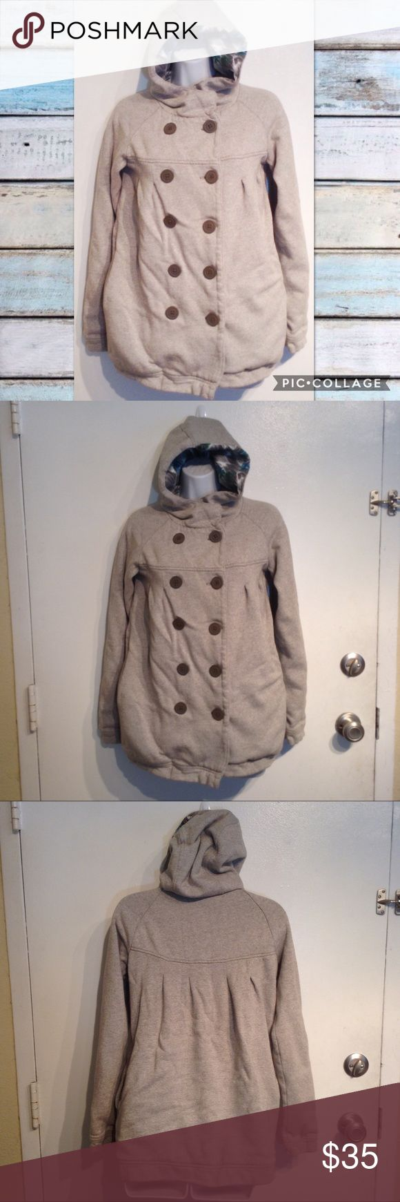KIMCHI BLUE UO Grey Pea Coat Style Hooded Jacket Kimchi Blue from Urban Outfitters. Heathered grey pea coat style hooded jacket. 100% cotton. Has pockets. Snaps at neck for added warmth. Warm and cozy. Size small. No modeling. Smoke free home, I do discount bundles. Urban Outfitters Jackets & Coats Pea Coats