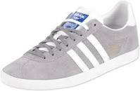 Adidas Gazelle - Grey Suede, White Strip.