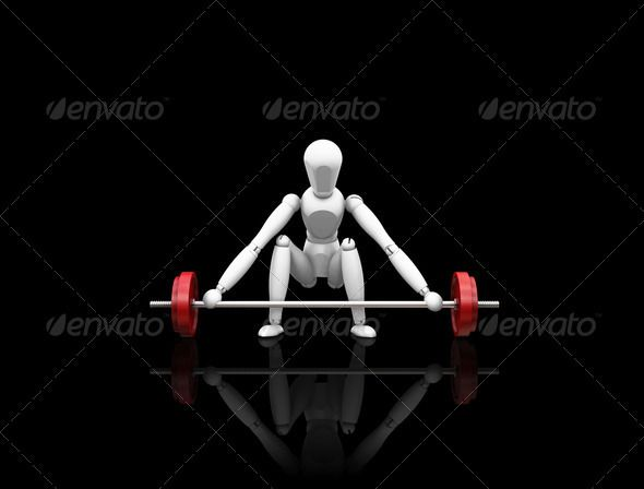 Weight lifting  #GraphicRiver         3D render of a man lifting weights     Created: 20May11 GraphicsFilesIncluded: JPGImage Tags: 3d #compete #fit #fitness #health #isolated #keepfit #lift #lifting #man #render #sport #weightlifting #weights