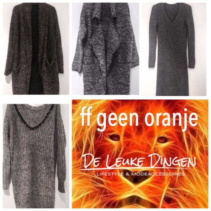 Even geen #oranje... maar heerlijke #warme #truien, #vesten en #wollen #jurken www.deleukedingen.nl