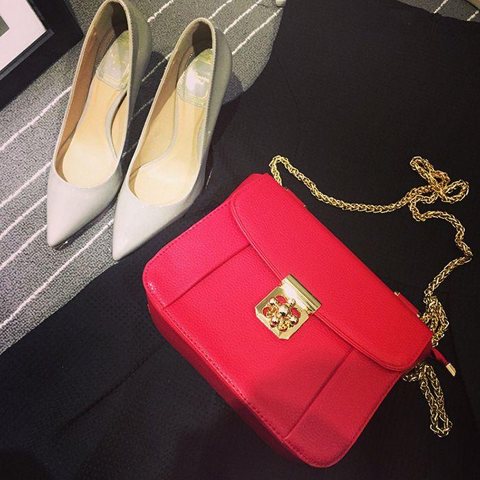2016 new $44.99 PRADA Bag pink red FREE SHIPPING AliExpress