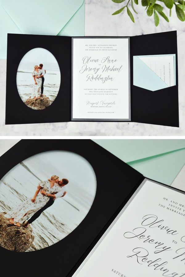 Diy Elegant Photo Wedding Invitation