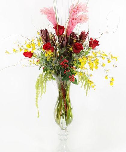 Tropical Fantasy | ginger, oncidium orchids