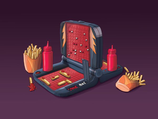Battlechip - The Hungry Games by DRIEHOEK. Illustrated by Lizanne Visser