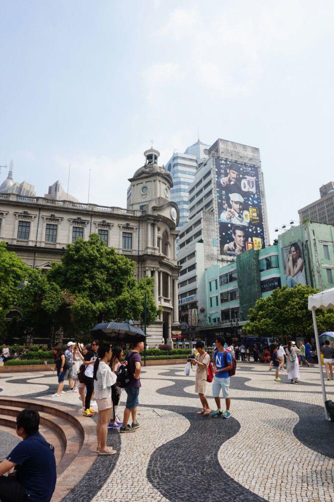 The wavy pavement of Senado Square, Macau