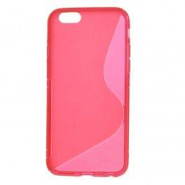 iPhone 6 roosan punainen silikonisuojus.